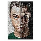 Leinwanddruck Sheldon Cooper Big BangAnd dekoratives