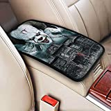It Pen-nyw-ise Clown Horror Movie Car Armrest Cover Auto Center Console Pad Protective Cover Waterproof Armrest Cushion Pad Seat Box Cover, Universal Fit for Most Vehicle SUV Truck Car Accessories