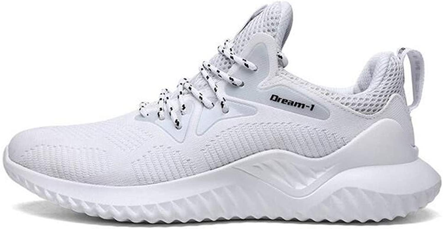 Exing Mens's shoes Knit Sneakers Summer Fall New Trainers shoes Anti-Slip Lace-Up Casual shoes