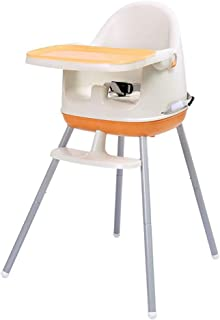 Multifunctional Adjustable Portable Baby High Chair 3-in-1 Child Seat Baby Dining Table Chair (Color : Orange)