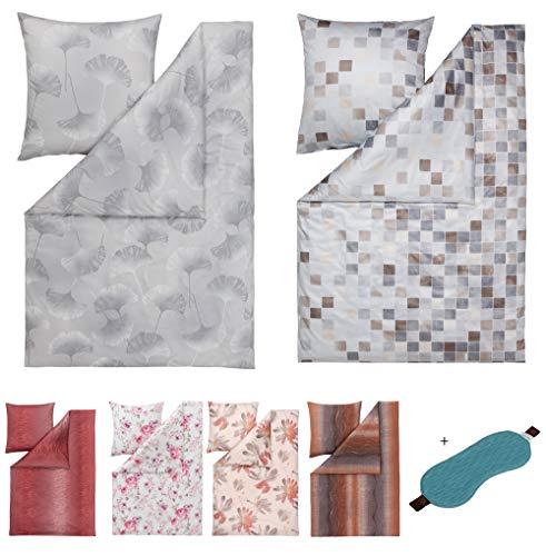 ESTELLA Mako Interlock Jersey Bettwäsche | 100% Baumwolle | trocknerfest und bügelfrei | 135x200 cm + 80x80 cm | Mimi Creme