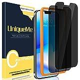 UniqueMe [2 Pezzi Privacy Pellicola Protettiva Compatibile con iPhone 12 6,1 /iPhone 12 PRO 6.1 [Bubble-Free],[Protezione della Privacy] Vetro Temperato con Strumenti di Installazione[Durezza 9H].