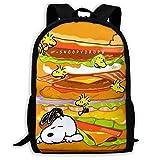 orangefruit Mochila Escolar, Mochila Informal Personalizada Snoopy y Woodstock Mochila Escolar Mochila de Viaje Gift-B4D