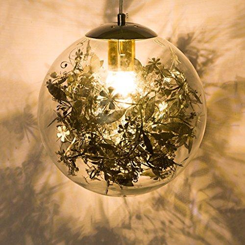 FFF-- Lámpara de techo para interiores (3D, cristal, creativa, diseño minimalista, color negro, tamaño: 25 x 24 cm)