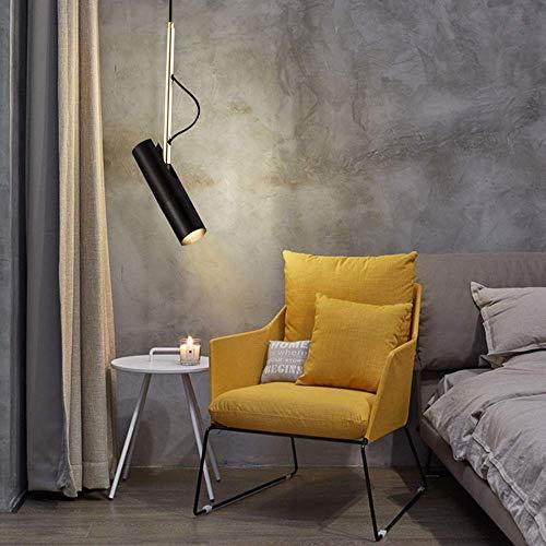 YANGQING - Lámpara de luz (15 cm, línea colgante, 25 cm, comedor, salón, dormitorio, hotel, área de irradiación, 3 m2 – 5 m2, luz cálida (color: negro), color: negro (color: negro)
