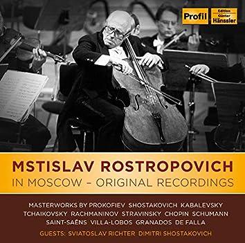 Mstislav Rostropovich In Moscow - Original Recordings