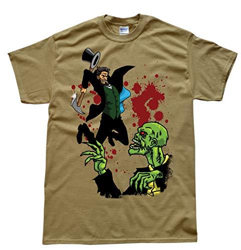 Abraham Lincoln vs Zombie Beige T-Shirt, Größe 3XL