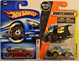 Hot Wheels Compatible Honda Civic SI Cherry 28/38 HW 2006 First Edition Series & Matchbox MBX Dirt Smasher 1:64 Scale Collectible Die Cast Model Car Bundle