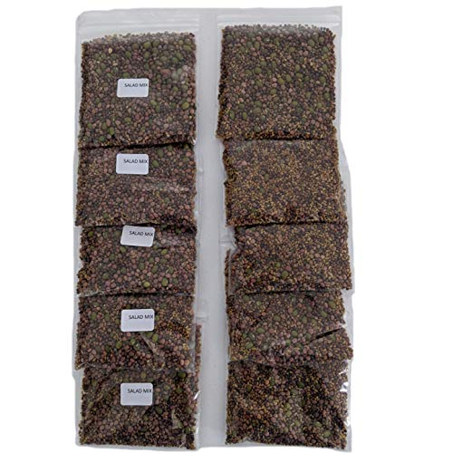 Salad Mix Sprouting Seeds for Sprouts and Microgreens. Non-GMO. Pack of 10 premeasured Seeds for 32oz Jars and 8 inch Trays. Our Proprietary Salad Mix Includes: Broccoli, Alfalfa, Radish, Mung Beans