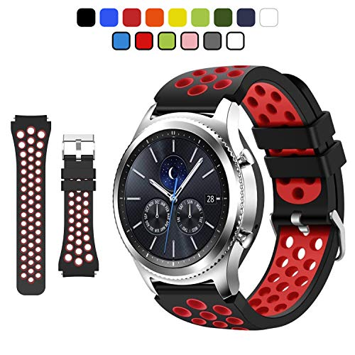 Gear S3 Frontier Smartwatch Correa de Silicona Suave para Galaxy Watch 46mm / Galaxy Gear S3 Frontier / S3 Classic / 46mm Smart Watch.