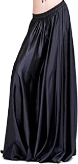 90cm Belly Dance Satin Long Dress Elastic Waistband Design Great Stage Effect
