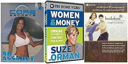 Women Power/ Help Attaining The Power To Control Both Mind + Body: Core Secrets- Ab Assault (Brooke Burke) + Women & Money (Suze Orman) + Budokon Weight Loss System (Bonus Empowerment CD) 3 DVD BUNDLE