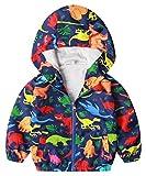 Coralup - Chaquetas unisex con capucha de dinosaurio para bebé, chaqueta de camuflaje impermeable cortavientos (multicolor, 12 a 8 años)