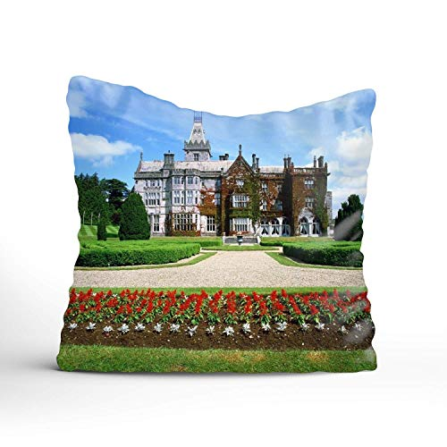 N\A Classic Retro Ireland Manor Adare Throw Pillow Covers Cotton Linen Soft Soild Christmas Decorative