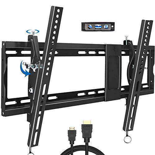 Tilting TV Wall Mount Bracket Design for Most 32-83 Inch LED Plasma Flat Curved Screen TVs, Low Profile JUSTSTONE TV Mount with VESA 600x400mm Holds up to 165 Lbs, Fits 16'-24' Studs,Can Be Leveled