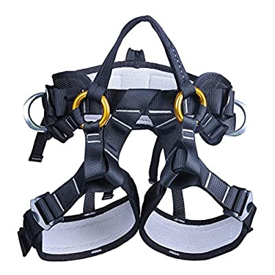 kissloves Full Body Safety Climbing Harness Outdoor Rock Climbing Harness Half Body Harness Safe Seat Belt for Mountaineering Expanding Tree Arborist Climbing Rappelling Equip