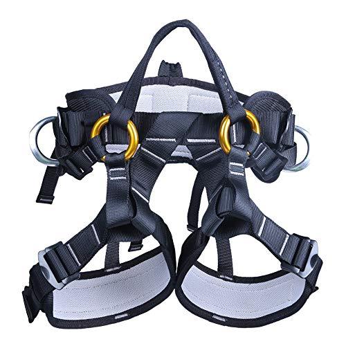 Klettern Half Body Harness sicheren Sitz Gürtel Für Bergsteigen höheren Rescue höhlenerkundung Klettern bergführern Equip, unisex, schwarz