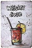 None Brand Whiskey Sour Cartel de Chapa de Metal Decoración de la Pared Cartel Retro Arte Pintado Cartel Placa de Advertencia Bar Cafetería