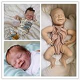 Angelbaby 22' Unpainted Silicone Reborn Doll Kits with Cloth Body DIY Your Own Sleeping Newborn Baby Dolls Boy Girl Accessories Blank Rebonr Kits