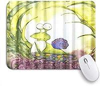 NIESIKKLAマウスパッド 楽しい動物森のかわいいカタツムリ ゲーミング オフィス最適 高級感 おしゃれ 防水 耐久性が良い 滑り止めゴム底 ゲーミングなど適用 用ノートブックコンピュータマウスマット