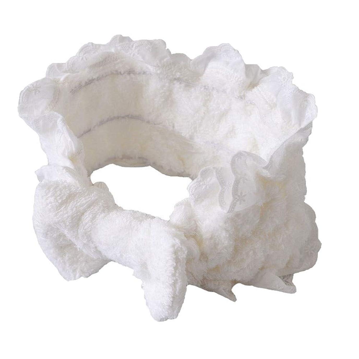 不誠実雪だるま火shefun ヘアバンド レディース 洗顔 お風呂 化粧 ヘアーバンド 柔らかい かわいい 吸水ヘアバンド 伸縮性あり ホワイト JP127