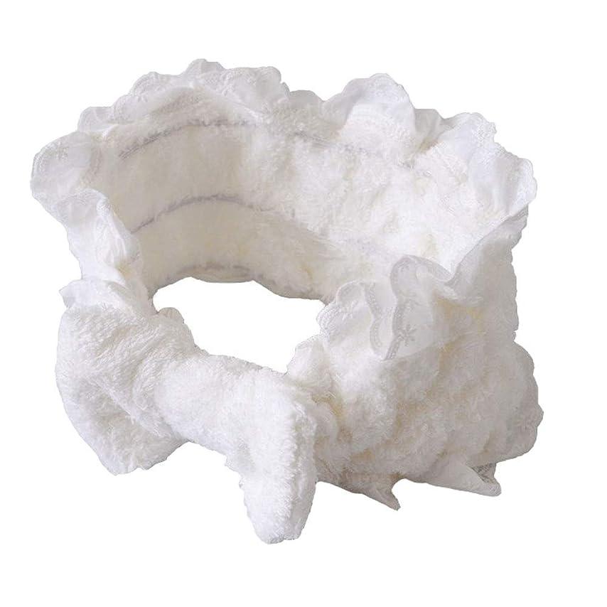 隣接出します競争力のあるshefun ヘアバンド レディース 洗顔 お風呂 化粧 ヘアーバンド 柔らかい かわいい 吸水ヘアバンド 伸縮性あり ホワイト JP127