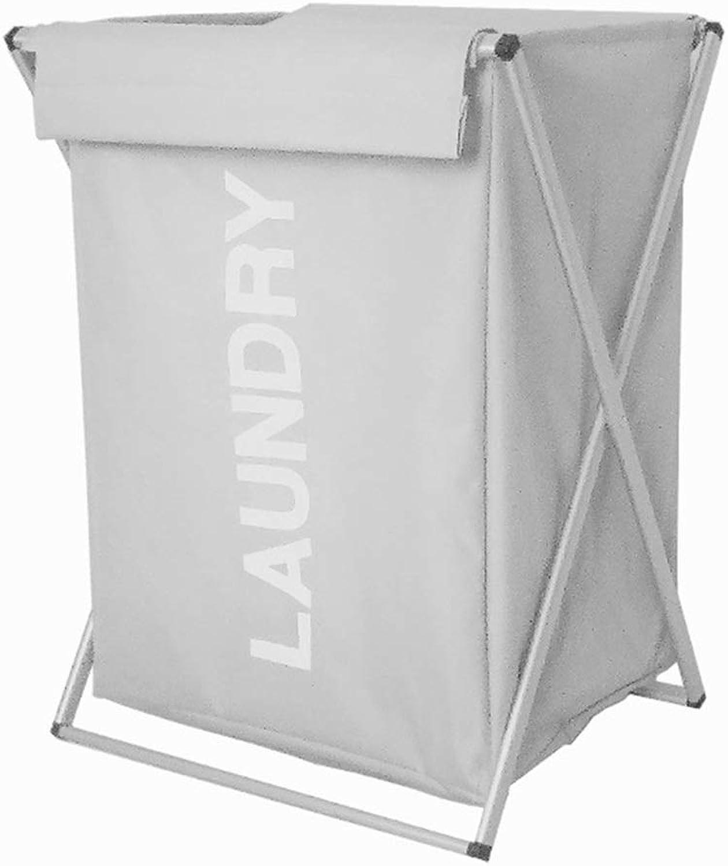 ZHANGQIANG Storage Basket Laundry Basket Large Laundry Basket with Lather Handle and Wheel Collapsible Fabric Laundry Hamper, Foldable Clothes Organizer, Folding Washing Bin