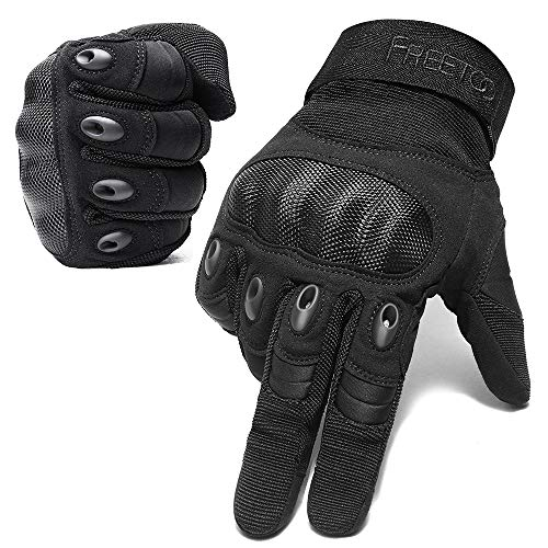 FREETOO Airsoft Gloves Men Tactical Gloves for Hiking Cycling Climbing Outdoor Camping Sports (Not Support Screen Touch)
