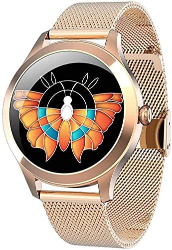 wyingj Relojes inteligentes impermeables para hombre Relojes deportivos redondos para mujer Relojes deportivos deportivos deportivos deportivos (color: plata-oro