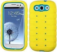 MyBat Samsung Galaxy S III TUFF eNUFF Hybrid Phone Protector Cover - Retail Packaging - Teal/Yellow