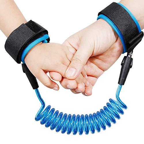 Cuerda de tracción de cinturón antipérdida, pulsera de seguridad antipérdida, cuerda antipérdida, para niños, para asistente de exploración de viaje de compras, 1,5 m