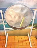"""14-inch Steel Drum from """"Steel Drum Source"""" w/ Sticks, Stand, Music Booklet and Free Instructional..."""
