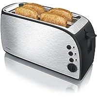 Moulinex Principio LS160111 Tostadora de una ranura larga de 25  cm para gran variedad de pan modo de descongelaci/ón y bot/ón apagado bandeja recoge-migas con 7 niveles de tueste
