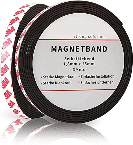 Nastro Magnetico Autoadesivo, Striscia Calamita con adesivo Forte Forza Adesiva,Universale per la cucina, officina e Co