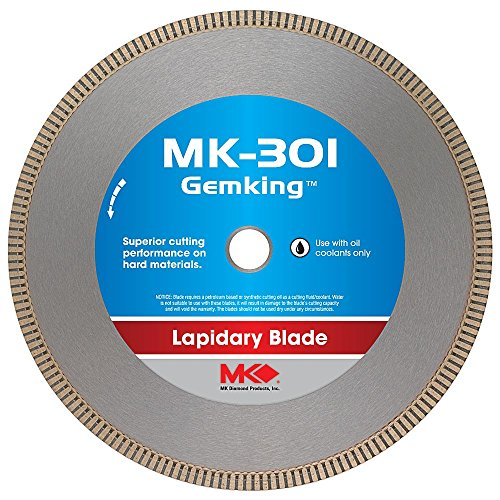 MK Diamond 166068 MK-301 Gemking 10-Inch Lapidary Wet Cutting Diamond Blade