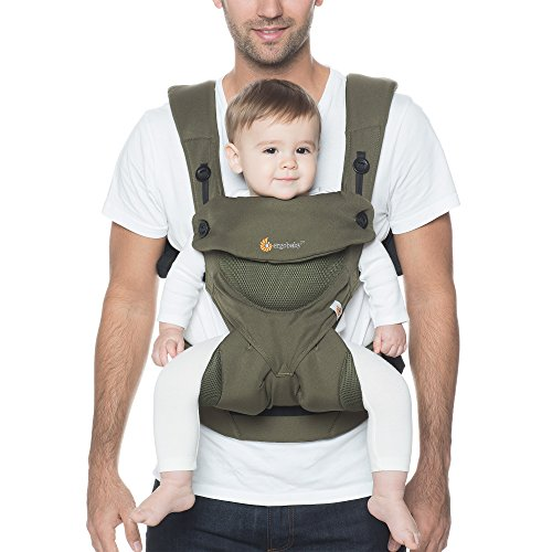 Ergobaby 360 All Carry Positions Award-Winning Cool Mesh Ergonomic Baby Carrier (Khaki Green)