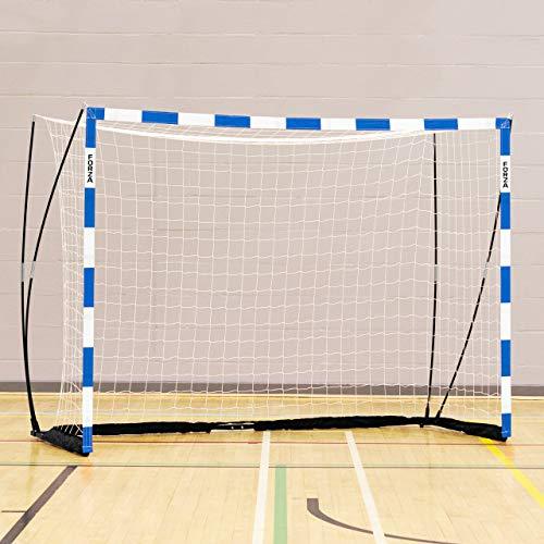 FORZA Handballtor Proflex - 3m x 2m Handballtor - in rot/weiß oder blau/weiß erhältlich (Blau, mit Sandsäcke (x2))