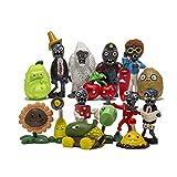Plants vs Zombie 16個セット フィギュア PVZ アクションフィギュア ギフト ケーキトッパー カップケーキフィギュア 装飾玩具 サイズ1.2~3.1インチ
