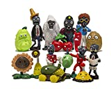 L&V Toys Inspired Plants vs Zombie Series PVC Toys Set of 16 Pieces 1,2-3,1 in.