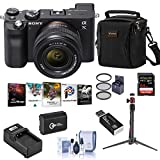 Sony Alpha 7C Mirrorless Digital Camera with 28-60mm Lens, Black Bundle with Bag, 64GB SD Card, Extra Battery, Charger, Filter Kit, Mini Tripod, Corel PC Software Suite and Accessories