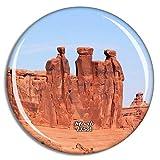 Weekino Stati Uniti d'America America Moab Three Kings Arches National Park Calamità da frigo 3D Cristallo Bicchiere Tourist City Viaggio Souvenir Collezione Regalo Forte Frigorifero Sticker
