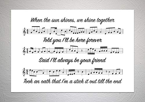 Rihanna ft Jay-Z - Paraplu - Song Sheet Lyric Art Print - A4 formaat