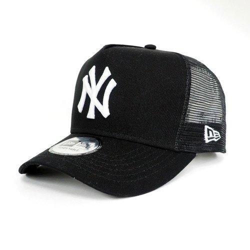 New Era(ニューエラ) ニューヨーク・ヤンキース トラッカー メッシュ キャップ/帽子 (ブラック/ホワイト) - Free