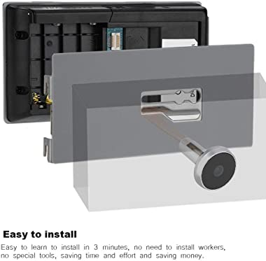 "ROBTLE Greeter Digital Door Viewer & Doorbell, 3.5"" LCD Security Camera Monitor 120 Degree Peephole Viewer Photo Visual Monit"