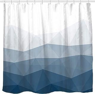 Sunlit Designer Shower Curtain,Popular Shower Curtain, Ombre Blue Fabric Shower Curtains for Bathroom Decor, Contemporary ...