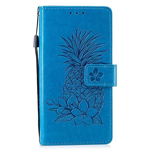 Bear Village® Coque Sony Xperia XA2, Premium Étui Portefeuille à Rabat, Housse en Cuir avec Fermeture Magnétique pour Sony Xperia XA2, Bleu