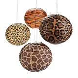 Jungle Safari Animal Print Hanging Lanterns (set of 12) Assorted animal print designs.