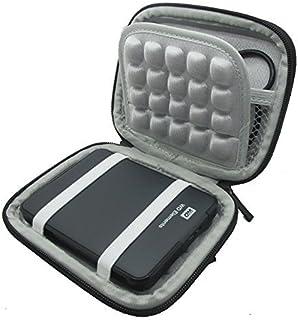 """co2UK(TM) Nero EVA antiurto Pad viaggio di trasporto della pelle Box Cover protettiva Caso Borse custodie Per 2.5"""" inch WD..."""
