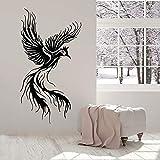 HGFDHG Calcomanías de Pared con patrón de Phoenix pájaros voladores fantasía Cuento de Hadas Pegatinas de Ventana de Vinilo Dormitorio de niños decoración de Interiores Papel Tapiz