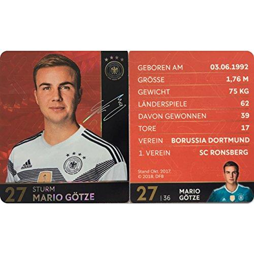 Rewe 2018 WM DFB Russland - Glitzer Einzelkarten Sammelkarten Komplettset (GLITZER KARTE NUMMER 27 - MARIO GÖTZE)